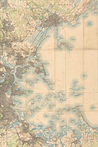 1896 Map of the Country About Boston: A Poetose Notebook / Journal / Diary (100 pages/50 sheets) (Poetose Notebooks: Boston) (Hog Island Press)