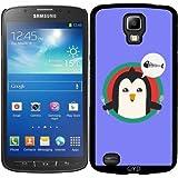 Hülle für Samsung Galaxy S4 Active i9295 - Pinguin Mit Besteck Und by ilovecotton