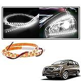#6: 2 Pc. Vheelocityin 45 cm Waterproof Flexible Tube Strip Car Interior/ Exterior Light - White For Toyota Innova