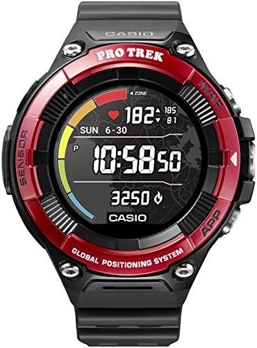 CASIO PRO TREK SMART WSD-F21HR-RDBGE Smartwatch Herren Red 2019 Pulsmessgerät