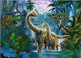 Poster 40 x 30 cm: Dinos Baden am Wasserfall von Jan Patrik