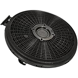 ✧WESSPER® Campana extractora filtro para Teka DH2 90/60 (redonda, carbón)
