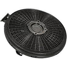 ✧WESSPER® Campana extractora filtro para Teka DH2 90 Isla (redonda, carbón)