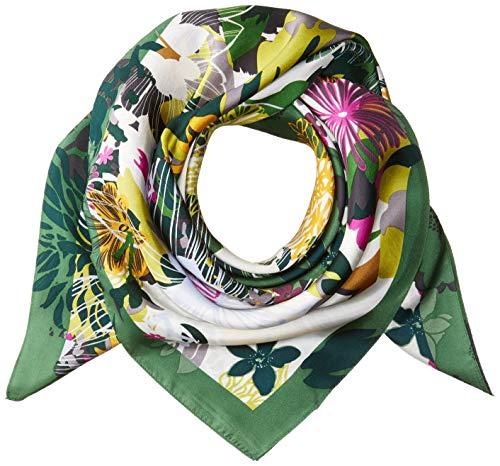 Vince Camuto Damen Coral Floral Silk Square Modischer Schal, Lime Spruce, Einheitsgröße