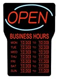 Royal Sovereign LED Open Sign Board with Hours