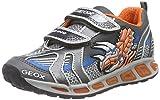 Geox J Shuttle Boy A, Jungen Sneakers, Mehrfarbig (C0036GREY/ORANGE), 24 EU