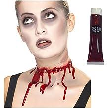 Abierta carne herida lesión cicatriz de látex cortado muerto Zombie cortó cuello + sangre