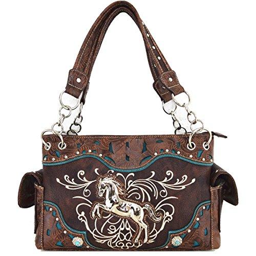 Silvertone Tasche Western Pferd Pferd Handtasche Braun (Western-stil Handtasche)