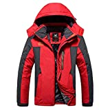 FRAUIT Herren Softshelljacke Warme Gefüttert Funktionsjacke Wasserdichte Outdoorjacke Winddichte Hardshelljacke Warme Winterjacke Regenjacke Hoodie Thermal Coat Fleecejacke Steppjacke