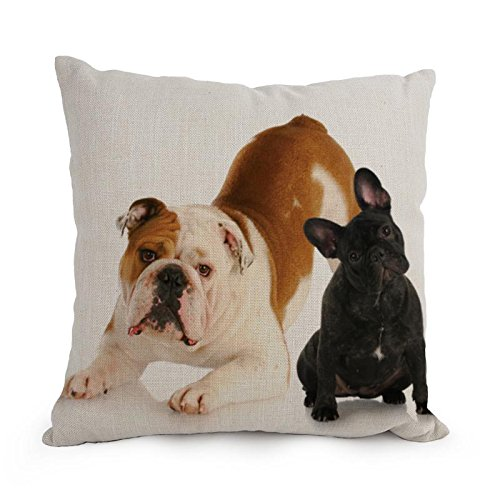 Artistdecor Cushion Covers 18 X 18 Inches / 45 By 45 Cm(twice Sides) Nice Choice For Teens Girls,relatives,lounge,car,husband,club Dog Black