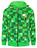 Minecraft Childrens/Boys Creeper Character Hoodie (Años (13-14)/Verde)