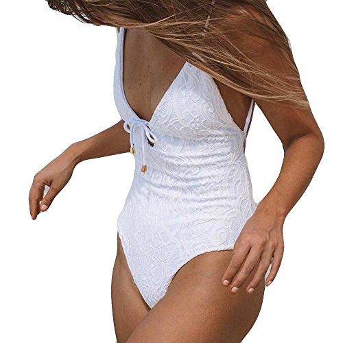 Badeanzug Damen Sexy Bauchweg Einteiler Bademode Damen Push Up Rückenfrei Badeanzug für Damen Schwimmanzug Monokini Strandmode