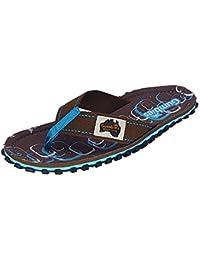Gumbies Damen Zehentrenner - Rosa/Blau Schuhe in Übergrößen