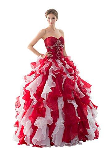 Vimans Damen A-Linie Kleid rot rot Gr. 38, - Disney Kleider Princess Ball