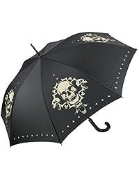 """VON LILIENFELD Paraguas automático con motivo """"Skull"""""""