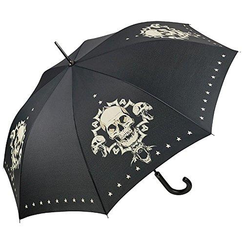 Von lilienfeld® ombrello motiv automatico donna uomo teschio skull
