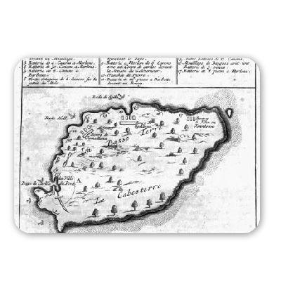 mappa-di-barbados-incisione-di-french-schooltappetino-per-il-mouse-in-gomma-naturale-di-alta-qualit-