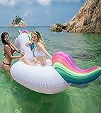 Asamoom Unicornio Hinchable Colchonetas Piscina, Flotador Unicornio Piscina Para Adultos 200 x 100 x 90 cm