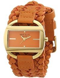 Mike Ellis New York L2757AGU/5 - Reloj analógico de cuarzo para mujer, correa de cuero color naranja