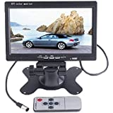 BW 7 inch High Resolution 800*480 TFT Color LCD Car Rear View Camera Monitor Support Rotating The Screen and 2 AV Inputs