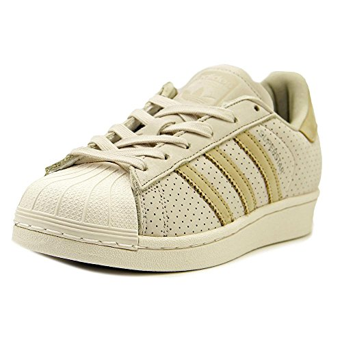 adidas Originals Superstar Fashion J, CBROWN,LINKHA,CWHITE, 4 Medium US
