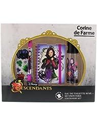 Corine de Farme - Coffret Disney Princesses - The Descendants Eau de Toilette + Carnet + Stylo + Stickers 50 ml