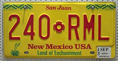 USA Nummernschild NEW MEXICO County SAN JUAN ~ US Kennzeichen License Plate ~ Blechschild