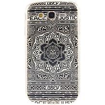 Guran® Silicona Funda Carcasa para Samsung Galaxy Grand Neo Plus / Grand Neo Smartphone Case Bumper Shock TPU Cover-Flor negro