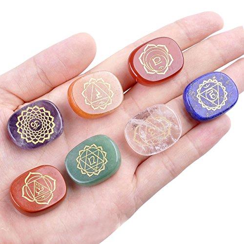 7 chakra gioiello simbolo jovivi oval feng shui healing reiki pietre terapia diamanti pietra decorazione energia