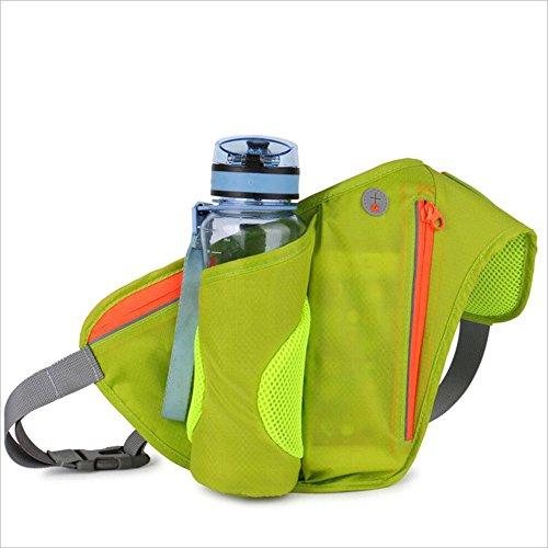 ChenBing Lauftasche mit elastischem Bund Outdoor Radfahren Bergsteigen Multifunktionale Wasserflasche Taschen Für Männer Und Frauen Lauf Handy Gürtel Atmungsaktive Radtasche (Farbe : Grün)