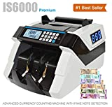 KROSS IS6000 Currency Cash Counting Machine with Fake Note Detection for Professional Use