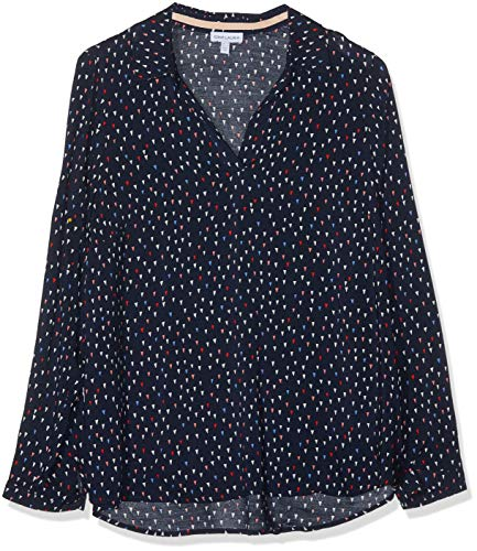 GINA LAURA Damen Bluse Schlupfbluse mit Hemdkragen Rosa (Apricot 54), Herstellergröße: 44