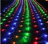 2600 Led 32,8 * 26ft Xmas String Net Lichter Fairy String Licht Weihnachtsbaum Hochzeit Hausgarten Festival Party Valentine Halloween Decor Nachtlicht Geschenk bunt (Farbe : -)