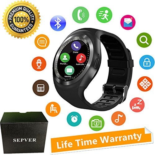 SEPVER Smart Watches Smart Watch SN05 Round Smartwatch With SIM TF Card Slot Sync Calls Notifications For IOS Android Samsung Huawei Sony LG HTC Google Men Women Kids Girls Boys