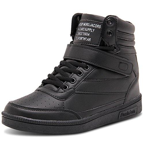 Solshine Damen Knöchel Stiefel mit innen Keilabsatz Klettverschluss Sneaker-Wedges Stiefeletten
