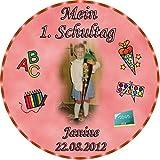 Tortenaufleger Fototorte Tortenbild Schulanfang Einschulung 1. Schultag Rund 20 cm Durchmesser SE01