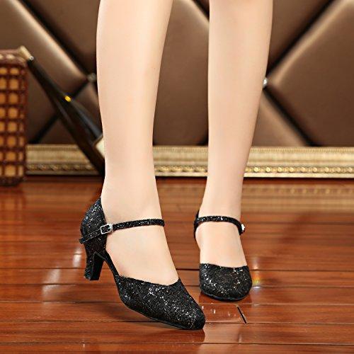 Minitoo , Damen Tanzschuhe Black-6cm Heel