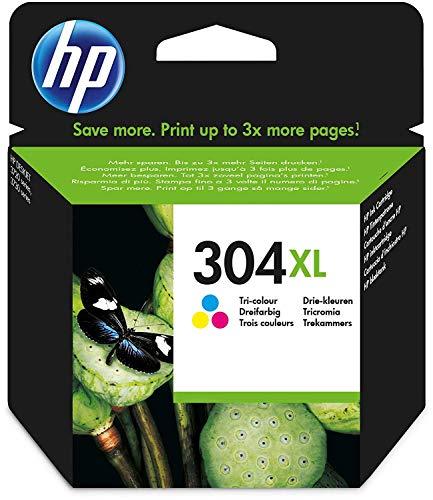 HP 304XL Farbe Original Druckerpatrone mit hoher Reichweite für HP DeskJet 2630, 3720, 3720, 3720, 3730, 3735, 3750, 3760; HP ENVY 5020, 5030, 5032 -