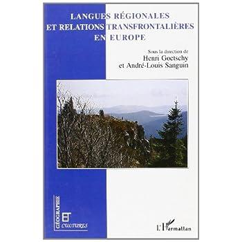 Langues régionales et relations transfrontalières en Europe