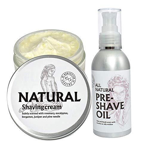 Executive Shaving Naturel Rasage Crème et Eau Soluble Huile Pré Rasage Ensemble