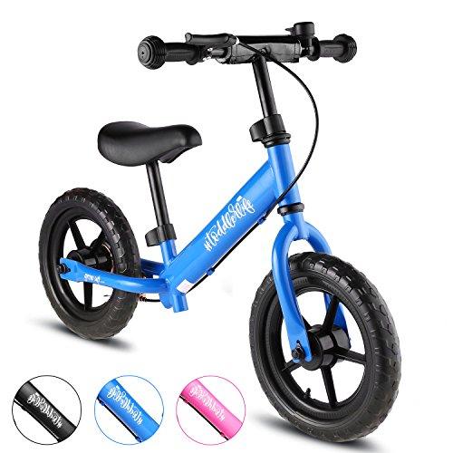 Bikfun Kinder Laufrad, Training mit verstellbaren Lenker und Sitz, kein Pedal Laufrad für Altersstufen von 18 Monaten bis 5 Jahren