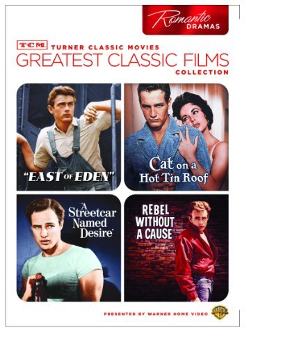 TCM Greatest Classic Films Collection: Romantic Dramas (East of Eden / Cat on a Hot Tin Roof / A Streetcar Named Desire / Rebel Without a Cause) by James Dean
