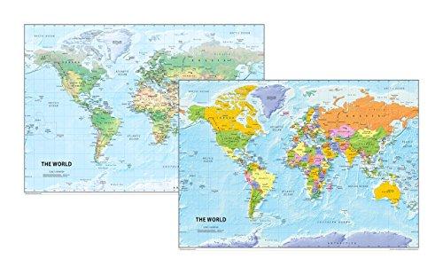 El mundo mapa Set–Física y Política