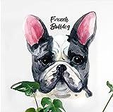 Fushoulu Französische Bulldogge Hund Wandaufkleber Malerei Poster Moderne Dekoration Zubehör Wandaufkleber Für Kinderzimmer Wandbild Diy