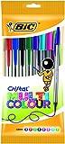 BIC Kugelschreiber Cristal Multicolor, 0.6 mm, Beutel 8 Stück, sortiert