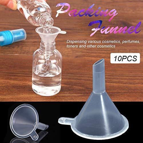 Separator 10 STÜCKE Kleine Kunststoff Parfüm Diffusion Flasche Mini Flüssigkeit Trichter Labor Separation Trichter Diffusion Flasche