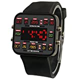 Back to the 80s Retro Future Time Circuit Themed Unisex Adult Men's Women's Geek Digital LED Wristwatch Watch