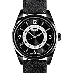 MEDOTA Grancey Men's Automatic Water Resistant Analog Quartz Watch - No. 2803 (Black/Black)