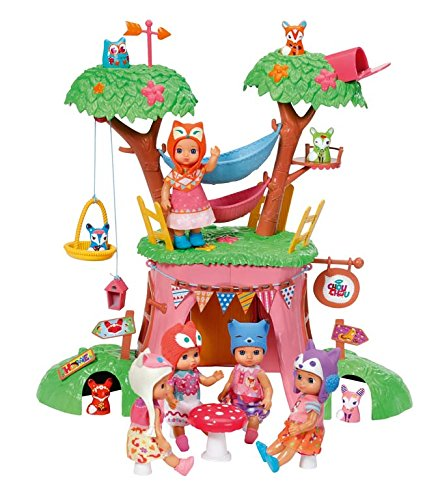 Zapf Creation 920282 - casa del árbol Mini Chou Chou con una muñeca exclusiva