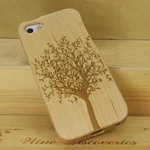 SunSmart Einzigartigen, handgefertigten Naturholzhartholzhülle für das iPhone 5 5S (Ahorn-Baum)